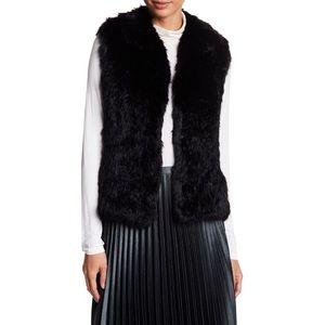 Bagatelle black rabbit fur vest